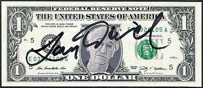 Larry David Signed One Dollar Bill W/ His Photo Image Seinfeld Actor Comedian