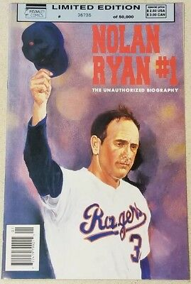 1992 PERSONALITY COMICS NOLAN RYAN #1 ~ LIMITED EDITION #36,735 of 50,000!!