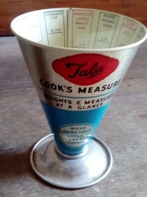 Vintage TALA Cook's Measure - METAL - Made in England, Kitchen