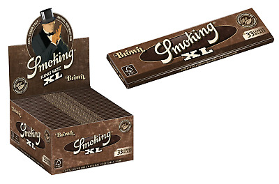 Smoking Brown King XL Size - 1 PACK - Unbleached Natural Rolling Papers Roll