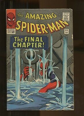 Amazing Spider-Man 33 FN 5.5 *1 Book* 1965, All-Time classic Steve Ditko issue!