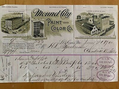1900 Mound City Paint Co St Louis MO Advertising Bill