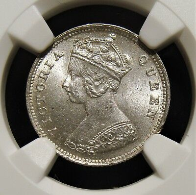 Hong Kong : British Colony. Victoria 10 Cents 1900 MS64 NGC.