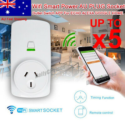 Wireless Wifi Smart Plug Power Socket AU Outlet Switch For ECHO ALEXA GOOGLE