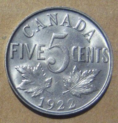 1922 Canada Five Cent Nice Take a Look