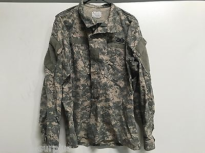 Usgi Us Army Combat Uniform Acu Coat Top Fatigue Jacket Size Large Long Cab