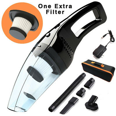 Car/Home Portable 120W Cordless Vacuum Cleaner Washable Filter Cleaning Brushes