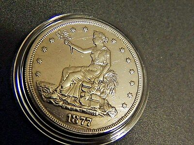 VERY NICE AUTHENTIC 1877-s Trade Dollar