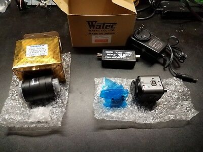 Watec Wat-600cx CCD camera, with power line adapter,50mm lent. New.