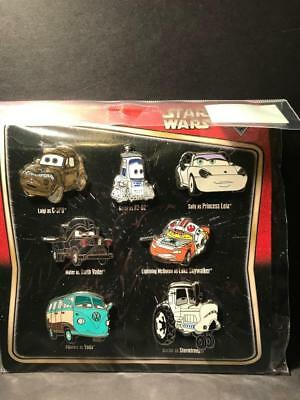 Disney Star Wars Cars Characters Booster Pack 7 Pin Set $34.95