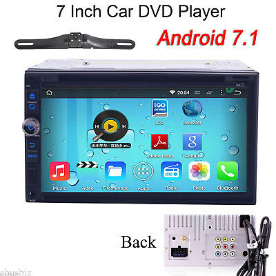 7''Quad Core Android 7.1 2Din Car DVD Player GPS Navi with Map WiFi Radio Stereo