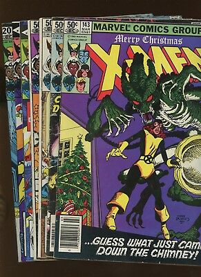 Uncanny X-Men 143-149 *7 Books* 1981 Marvel! Dr. Doom! Arcade! 1st Caliban!
