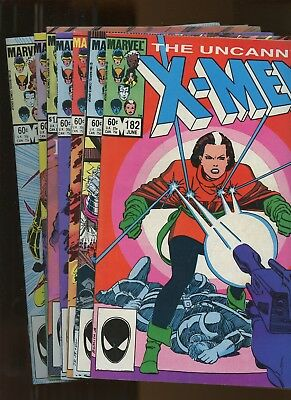 Uncanny X-Men 182-188 *7 Books* 1984 Marvel! 1st Forge! Wolverine! Rogue! Storm!