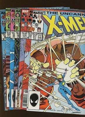 Uncanny X-Men 217-223 *7 Books* 1987 Marvel! 1st full app Mr Sinister! Silvestri