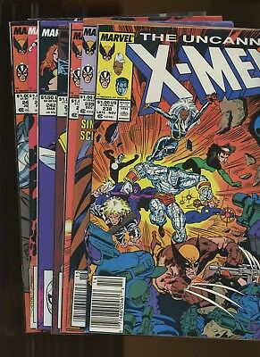 Uncanny X-Men 238-243,245 *7 Books* 1988-9 Marvel! Inferno! Wolverine! Rogue!