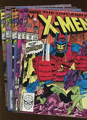 Uncanny X-Men 246-252 *7 Books* 1989 Marvel! 1st Jim Lee art on title! Wolverine