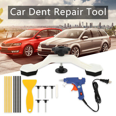 Paintless Car Body Kit Dent Repair Removal PDR Tools Puller Bridge Glue Gun Set