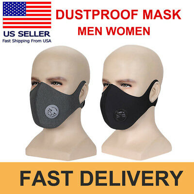 New Anti Smoke Dust Air Purifying Face Mask Activated Carbon Filter Outdoor Mask
