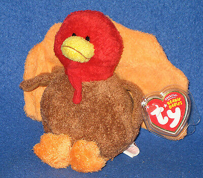 TY GOBBLED the THANKSGIVING TURKEY BEANIE BABY - MINT with MINT TAGS