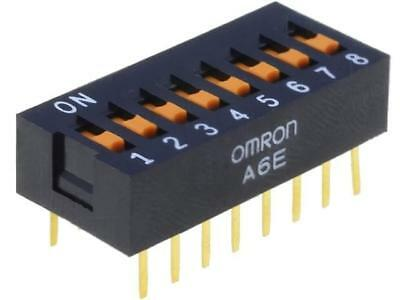 A6E-8101 Switch DIP-SWITCH Poles number8 ON-OFF 0.025A/24VDC 100MΩ A6E-8101-N