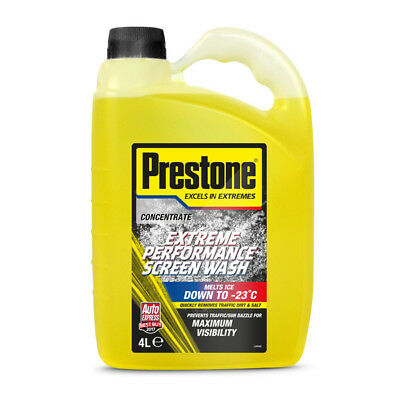Prestone Screen Wash Extreme Performance Concentrated All Seasons 4 Litre