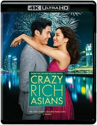 Crazy Rich Asians [New 4K Ultra HD] Black, With Blu-Ray, 4K Mastering, 2 Pack