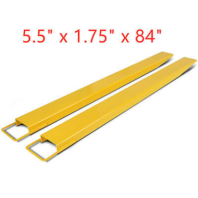 "84"" x 5.5""  Pallet Fork Extensions for forklifts lift truck slide on steel new"