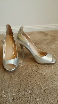 Gorgeous silver RMK Heels - Size 39 - Like New - Worn Once only