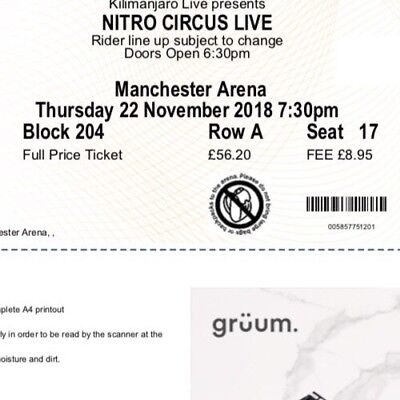 U2 CONCERT TICKETS two standing London October 24/18 Experience ...