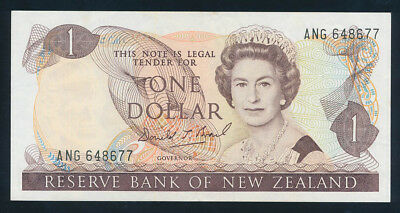 "New Zealand: 1989 LAST $1 Brash QEII SCARCE NAME PREFIX ""ANG"". Pick 169c AUNC"