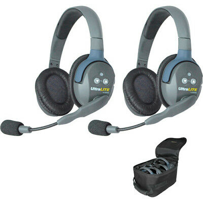 Eartec UL2D UltraLITE 2-Person Headset System with Batteries, Charger & Case (Du