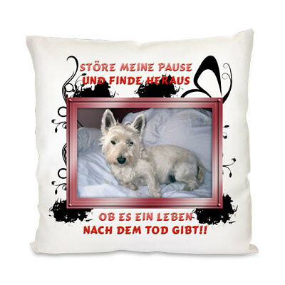 West Highland Terrier - Kissenbezug -Neu - Kissenhülle -