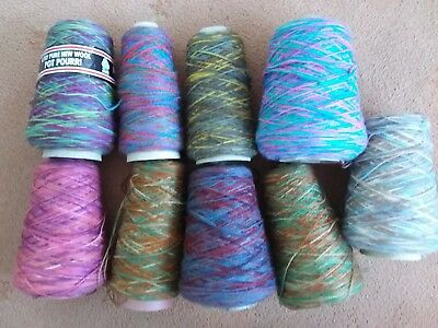 Mixed instant fairisle/random yarn (Over 2kg.incl.cone centers and box)