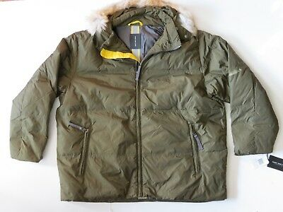Mens Andrew Marc New York Quilted Duck Down Hooded Jacket Coat Parka Sz XXL