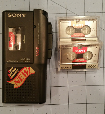 Sony Micro Cassette Recorder M-527V Handheld VOR Voice Operated Tested