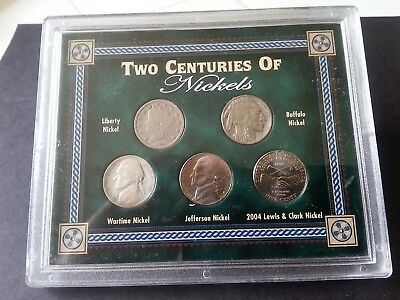 Nickel Collection – Two Centuries of Nickels – 5 coin set