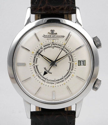 Jaeger LeCoultre Memovox - Stainless Steel - World Time - White Dial (1968)