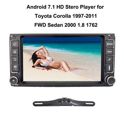 """7"""" Android 7.1 Car Stero No DVD GPS WiFi Touch for Toyota Corolla Radio+ Camera"""
