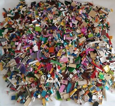 Genuine LEGO Friends 500g. 1/2 kg Mixed Bricks Bundle Job Lot Pieces Pink Purple