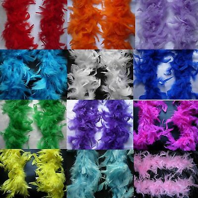2M Black Pink..Feather Boa Hen Night Parties  Deluxe  Fancy Dress 15 Colour