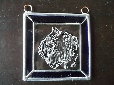 Bouvier  Beautifully Hand engraved Ornament by Ingrid Jonsson.