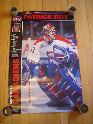 Patrick Roy Montreal Canadiens Poster Norman James Corp. 1991 Free Ship!