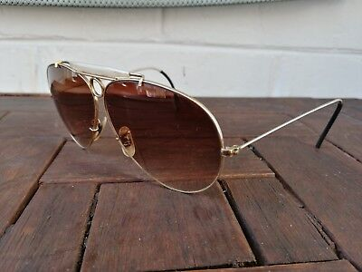 Ray Ban B&l Mod Shooter 1/30 10K Vintage Made In Usa Sunglasses 80's