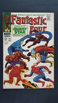 Fantastic Four #73 (1968) - Great Kirby Cover - Solid F+, 6.5 - OWP