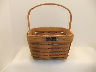 Longaberger 1991 IMAGINE THE POSSIBILITIES Bee Basket Smoke free home VERY NICE