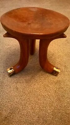 African Style Carved Wooden Stool
