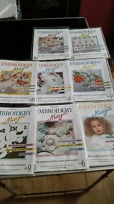 8 Packs Embroidery Magic. 48 Designs. Iron On Patterns