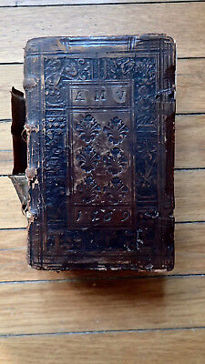 Printed 1567 Antique Book Wooden Boards Beautiful Hand Tooled Cover Rare 911 Pp