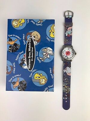 RARE Vintage Pinky and The Brain Wrist Watch Warner Bros. 1997 Original Box RUNS