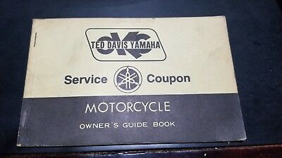 1981 Ted Davis Yamaha Service Book and Owner's Guide